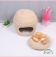 Wholesale Dual Pet Beds - Pet bed house beige pink dual-use luxury dog bedding fleece beds for cats small pet beds