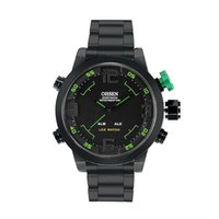 Wholesale Men Sports Ohsen Brand Watches - Wholesale- OHSEN Brand New Waterproof Men Sports Watches Quartz LED Digital Watch Full Stainless Steel Male Casual Wristwatches Gift