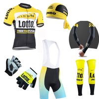 Lotto Team Wear Pas Cher-Ensemble complet Lotto Cycling Jersey Pro Team été hommes Bicycly Vêtements Mtb maillot vélo Ropa Ciclismo court manga Sports Wear C0610