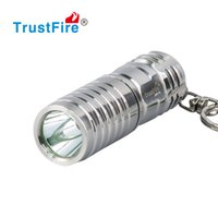 Wholesale Led Keychain Flashlight Waterproof - Stainless Steel Mini LED Flashlight Waterproof Keychain LED Light Key Chain Flashlight Best Gift Key Holder Housing 16340 Rechargeable Torch