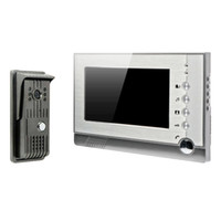 Wholesale Dvr Video Door Phone - 7 Inch Recordable Video Door Phone Intercom With Photo Shooting Video Recording DVR SD Card Support TFT-LCD DB182