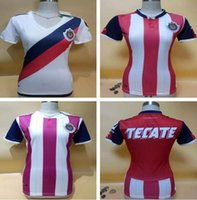 Wholesale Custom Women Clothing - thai quality 16 17 CHIVAS women soccer jerseys guadalajara custom name number lady soccer uniform girl football jersey clothing