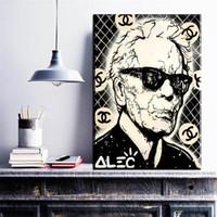 schlafzimmer malerei porträts großhandel-ZZ269 schwarz weiß portrait leinwand kunst alec monopol mann leinwand öl kunst malerei wandbilder für wohnzimmer schlafzimmer dekoration