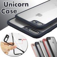 Wholesale Iphone 5s Tpu Bumper Case - Unicorn Beetle Camera Lens Protection Colorful Bumper Ultra Slim Transparent Hybrid Cover Case For iPhone 7 Plus 6 6S 5 5S Samsung S8 Plus