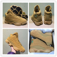 Wholesale Christmas Golden - Wholesale Retro 13 Basketball Shoes Winter Wheat Golden Harvest Elemental Gold Men 13s Basketball Sneaker Athletic Sports Shoes With Box