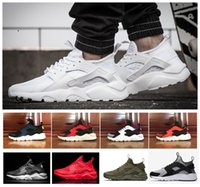 Transpirable Zapatos De Mujer Baratos-2018 Air Mesh Huarache IV Hombre Mujer Casual Air Mesh Racers Huarache 4 Negro Verde Rojo Verde Ligero Breathable Walking Shoes 36-45