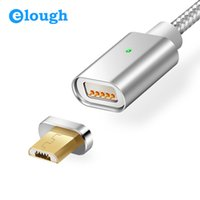 Wholesale Magnetic Wire Wholesalers - Elough E04 Magnetic Charger Cable Micro USB Cable For Xiaomi Android Mobile Phone Fast Charge Magnet Charger Microusb Cable Wire