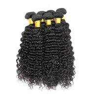 8 lots en gros Peruvian Virgin Human Hair Weave Body Wave Straight Deep Curly Body Loose Yaki Extensions de cheveux péruviennes Cheap Color 1B