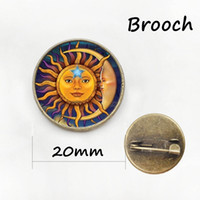 Wholesale Aircrafts Pictures - Vintage aircraft silhouette brooches plane spacecraft battleship pins sun and moon art picture badge men women jewelry gift