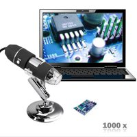 Atacado 500x 800x 1000x Digital USB Microscópio 2MP 8 LED Tripé Base Mini Camera LED para mac Electronic Window System