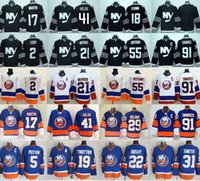 Wholesale Nicks Jerseys - New York Islanders Hockey Jerseys Ice 91 John Tavares 2 Nick Leddy 17 Matt Martin 21 Kyle Okposo 41 Jaroslav Halak 55 Johnny Boychuk Blue