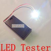 Wholesale Led Test Box - Wholesale- Freeshipping!Mini Box LED Tester Test Box for Input 3V High Power LED Light-emitting Diode Bulb Lamp.