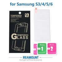 Wholesale Galaxy Screen Kit - 9H 2.5D Tempered Glass Screen Protector for Samsung S3 S4 S5 S6 Explosion-Proof Film for samsung galaxy s6 with Cleaning Kit