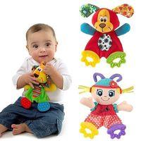 детские развивающие игрушки оптовых-Wholesale- 2017 Children Kids Cute Infant Newborn Baby Doll Toys Appease Towel Teether Developmental Toys