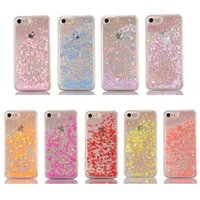 Wholesale case iphone 5c card online - Heart Glitter Star Quicksand Liquid Floating Case for iPhone S SE C Plus Samsung S4 S5 S6 S7 Edge Note Note4 Note5