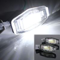 ingrosso piastre di acura-Lampada universale per luci targa 12V 18LED per Honda / Accord / Odyssey / Acura / TSX / Civic