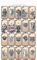 Wholesale Owl Delivery - 1#--20# Cartoon For iphone6 6s 6s plus cases Owl and Lion And more Painted animals mobile phone shell iphone 7plus case Free delivery