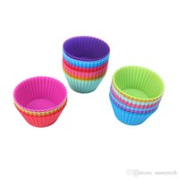 Wholesale Cups Mouldings - Silicone Round 7cm Cake Cup, Small Cake Mold, Candy Color Bake,star Silicone Muffin mold,heartshaped cake cup
