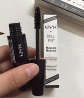 Wholesale Black Dolls Eyes - EPACK Latest NYX DOLL EYES Mascara Waterproof Hydrofuge Black Mascara Eyes nyx mascara Makeup Cosmetics
