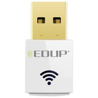 Wholesale Edup Mini Wireless - EDUP AC1619 Dual-band 2.4G 5.8G AC600Mbps Mini Wireless USB Adapter Antenna Dongle Realtek8811AU Dual Band USB Wifi Adapters 20pcs lot DHL