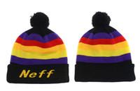 Wholesale Wholesale Neff - Neff Beanies With pom pom Beanies Hip Hop Hats NEFF Custom Knitted Cap Snapbacks Popular hat cap
