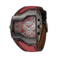 Wholesale Oulm Double - Cool Men Quartz Watch 2016 Mens Luxury Brand Original OULM Men Watches Double Time Zone Japan Movt orologio uomo