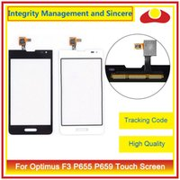 """Wholesale Optimus F3 - High Quality 4.0"""" For LG Optimus F3 P655 P659 MS659 Touch Screen Digitizer Lens Panel Outer Glass Black White"""