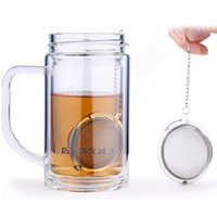 Wholesale Fast Cast - New Stainless Steel Sphere Locking Spice Tea Ball Strainer Mesh Infuser tea strainer Filter infusor Fast Shipping