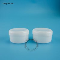 Wholesale Pe Jar - Wholesale- 30pcs Lot Promotion 100g Plastic Cream Jar Small Cosmetic PE Containers Refillable 100ml Empty Packaging Multifunction Vial