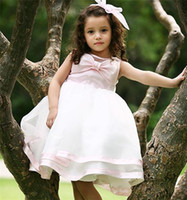 Wholesale Lace Cupcake Collars - 2016 Flower Girl Dresses Princess glitz cupcake pageant dress Ball Gown High Neck Ball Gown Shot Flower Custom kids bridesmaid dresses12