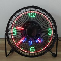Wholesale Cooler Fan 5v - 5V ventilator fan with LED clock micro fan exhanst fan New and fashion cool xmas & birthday gift
