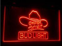 ingrosso neon di bud-tr10 Bud Light George Strait birra bar 3d segni culb pub led luce al neon segno decorazioni per la casa artigianato