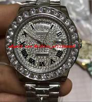 lunette en or blanc achat en gros de-Montre de luxe avec cadran de luxe en or blanc 18 carats et cadran de diamant 41 mm