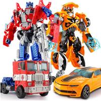 ingrosso vendita giocattoli robot-Top vendita 18.5 cm nuovo arrivo grande classico di plastica robot auto giocattolo action figure bambini educazione giocattolo regali all'ingrosso