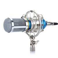 Wholesale Pro Audio Wire - Professional Condenser KTV Microphone BM-800 Cardioid Pro Audio Studio Vocal Recording Mic KTV Karaoke+ Metal Shock Mount