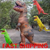 Wholesale Animal World Toys - Adult inflatable Dinosaur T REX Costume Jurassic World Park Blowup Dinosaur Cosplay Inflatable Costume Party Costume