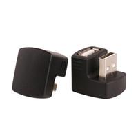 rallonges usb câble mâle femelle achat en gros de-ZJT49 Noir 180 degrés USB Mâle à Un Prolongateur Femelle Extension M / F Connecteur de câble adaptateur pour voiture de routeur 3G