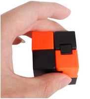Wholesale Sticker Puzzle - new style mix colours infinity bube Gears Rotate Puzzle Sticker Adults Child's Educational Toy magic Cube