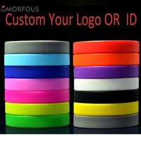 Wholesale Silicone Bracelet Id - 1PC Your Logos ID Bracelets Custom Your Logos Silicone Wristband For Adults Kids Promotion Event Gift