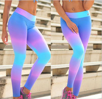 Wholesale 2017 Explosive style tight flowers Burst section Boutique women s new printing yoga pants tight leggings Gradient leggings