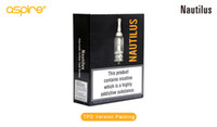 Wholesale Large Tank Clearomizer - Wholesale -100% Authentic Aspire Nautilus tank 5ML adjustable airflow System airflow control Clearomizer large in stock Free Shipping