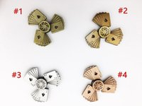 Wholesale Steel Poker - Classic Fidget Spinner Steel Bearing retro Poker hand spinners Bayblade Decompression Rotation Metal Spinning Top New for Big Kid 40
