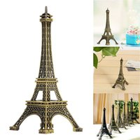 Wholesale Statue Home Decor - Eiffel Tower Decor Model Paris Creative Gifts Metal Art Crafts Unique Decor Figurine Zinc Alloy Statue Travel Souvenirs Bedroom Decor