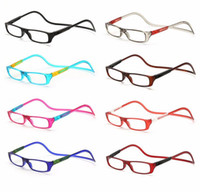Wholesale Reading Eyeglasses - Fashion Folding Magnets magnifying reading glasses magnetic Front Connect unisex eyeglasses hang folding reader Magnetic reading glasses