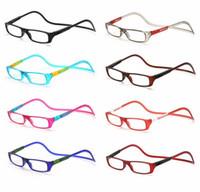 ingrosso occhiali da lettura appesi-Magneti pieghevoli di moda ingrandisci occhiali da lettura magnetici Front Connect Occhiali da vista unisex pieghevoli da lettura Occhiali da lettura magnetici
