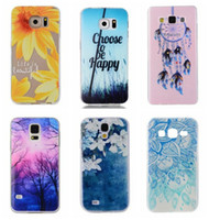Wholesale S3 Cases Floral - Fashion Flower Forest Soft TPU Case For Galaxy S7 Edge S6 S5 S4 S3 A3 A5 Dreamcatcher Cartoon Paisley Gel Bear Paisley Henna Floral Cover