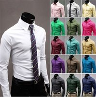 Unique Neckline Elegante Mais nova Moda Outono Camisa masculina Candy Slim Fit Luxo Casual Elegante Dress Shirts 17 cores Plus Sizes