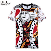 Wholesale wholesale play for sale - Summer Style Hip Hop T Shirt Men Women Playing Cards Print d T Shirt Harajuku Clothes Camisa Masculina Size M XXL