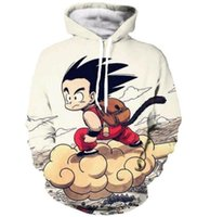Wholesale dragon ball sweatshirt - New Fashion Couples Men Women Unisex Anime Dragon Ball Z Kid Goku 3D Print Hoodies Sweater Sweatshirt Jacket Pullover Top S-5XL T30