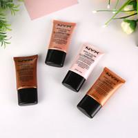 Wholesale Bb Liquid Cream - NEW HOT NYX Nude makeup concealment concealer four-color BB cream skin care make-up moisturizing liquid illuminator free ship